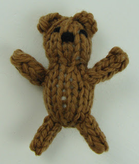 small knit teddy bear
