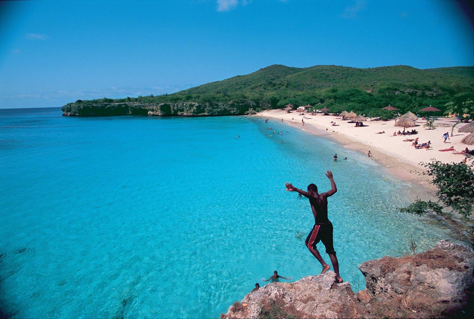 Knip Beach In Curacaocaribbean Bride