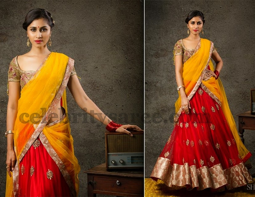 Attractive Contemporary Half Sari