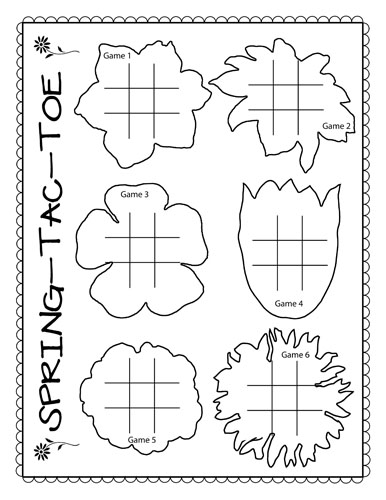 The Puzzle Den: Tic-Tac-Toe Freebie Template