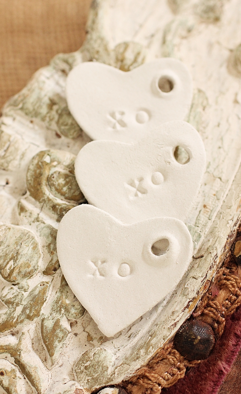 Beach House Living White Clay Tags Ornaments And Wedding Favors Beachy Shabby French Rustic
