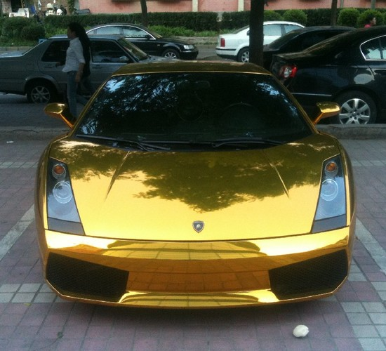 Gold Lamborghini Gallardo Spotted In Beijing