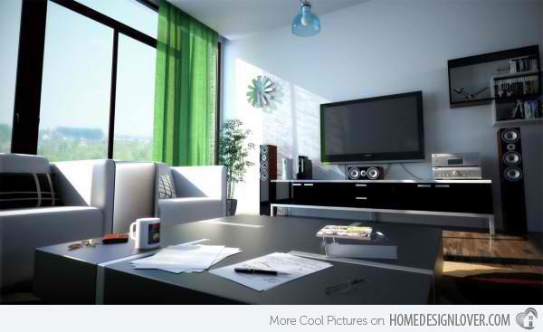 ide interior desain ruang keluarga modern kontemporer