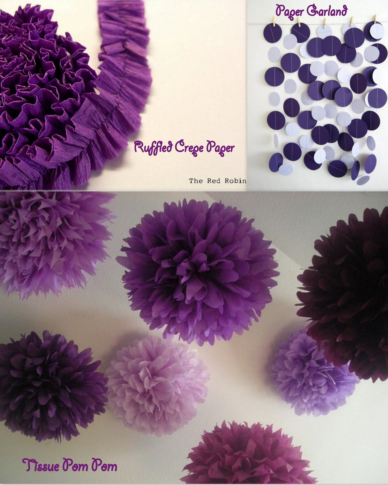 Ruffled Crepe paper from TheRedRobin .