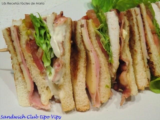 Sandwich Club Tipo Vips