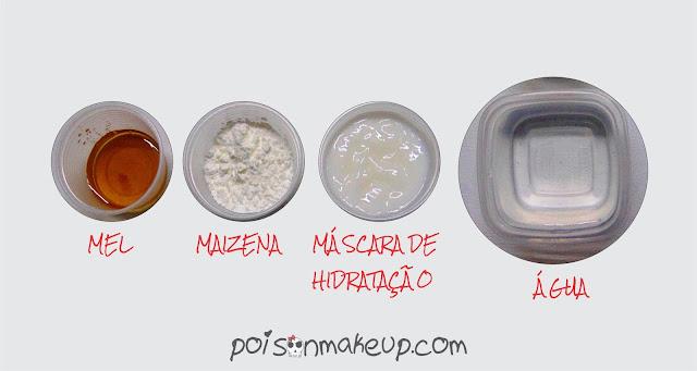 ingredientes hidratacao de maizena