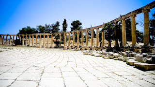 The oval forum of Jerash