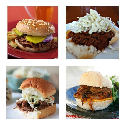 Slow Cooker barbecued beef sandwiches