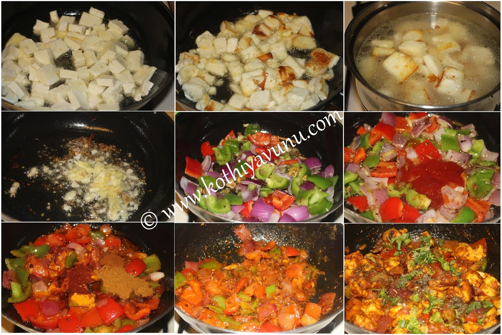Kadai paneer recipe dry version indian cottage cheese with bell how to make kadai paneer dry version forumfinder Images