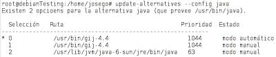 Imagen de elección de java en Debian 6