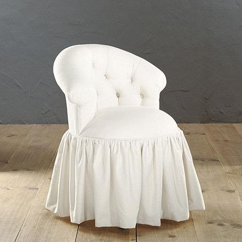 Fresh Ava vanity Stool from Ballard Designs