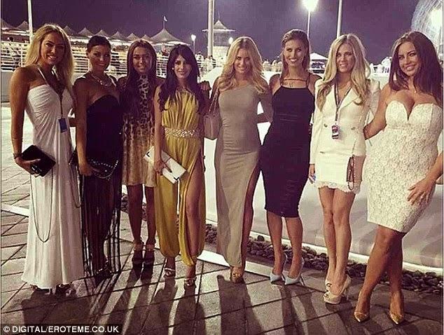 ياسمين واليا في فستان يظهر الكثير خلال تواجدها في أبو ظبي لمشاهدة الفورمولا ون
