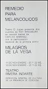 REMEDIO PARA MELANCÓLICOS, de R.Bradbury.  Director. Actor. Versión. 1966