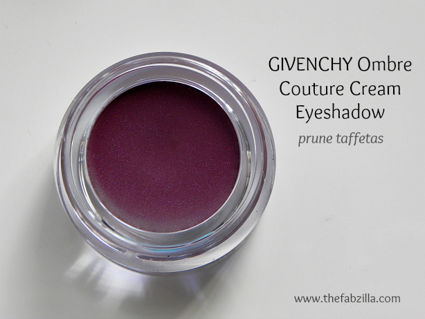 swatch, review givenchy ombre couture cream eyeshadow prune taffetas