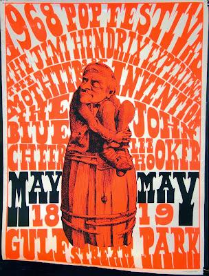 1968 Miami Pop Festival Poster