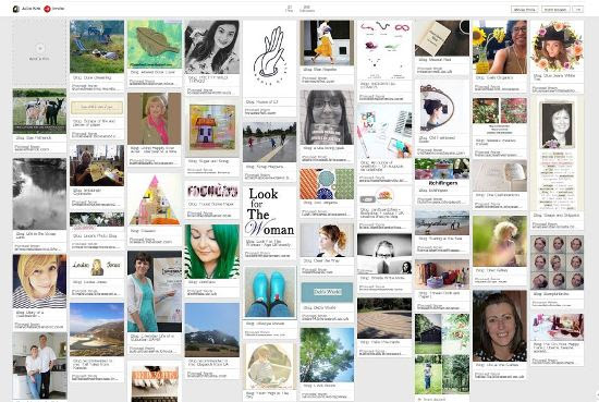 Pinterest board of bloggers