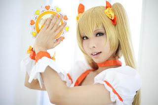 Kanda Midori Cosplay as Cure Sunshine from HeartCatch PreCure!