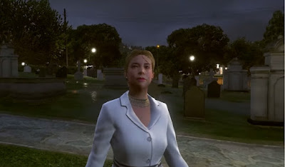 GTA V Vinewoods Cemetery Ghost