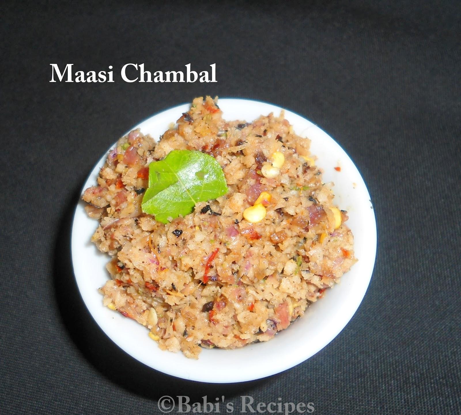 Maasi chambal