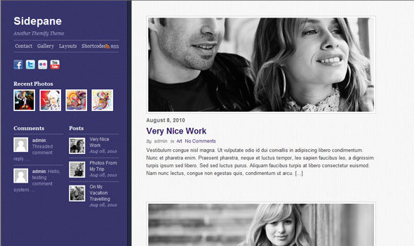 Sidepane WordPress Theme Free Download by Themify.