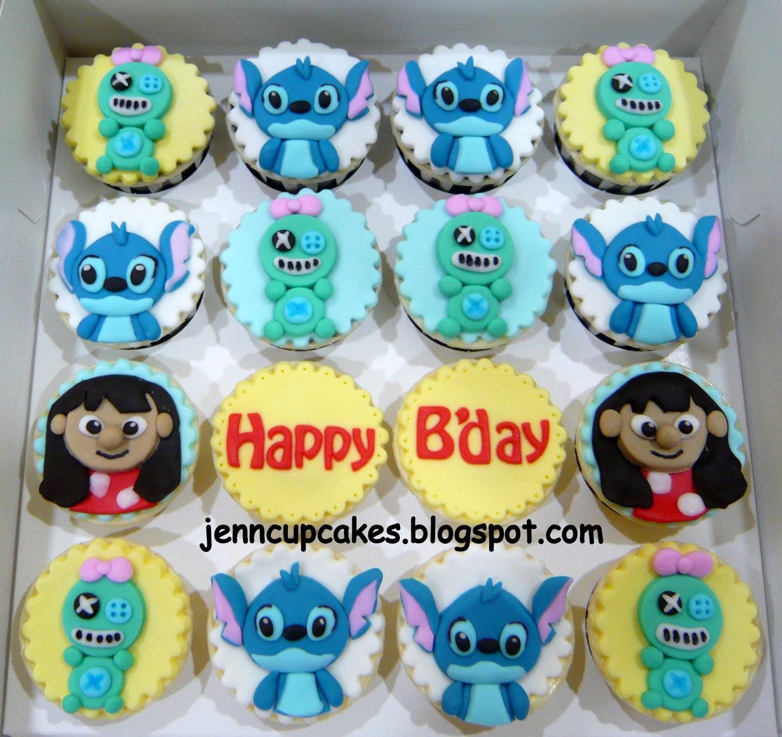 Jenn Cupcakes Muffins Lilo Stitch Cupcakes