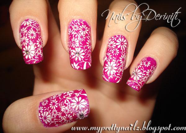 My Pretty Nailz Mothers Day Daisies Nail Design Flower Nail Art