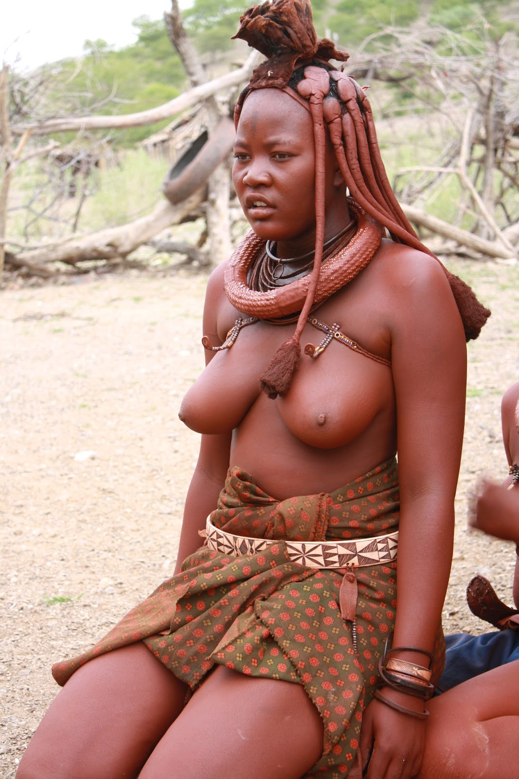 Nude african tribe woman