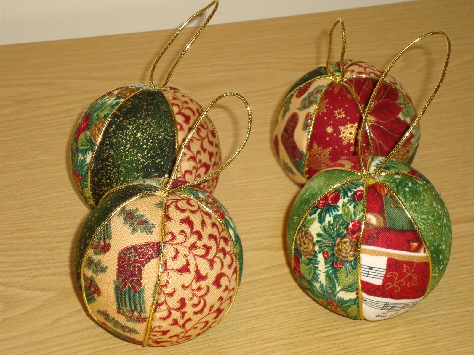 Patchwork y manualidades bolas para el rbol - Manualidades con bolas de navidad ...