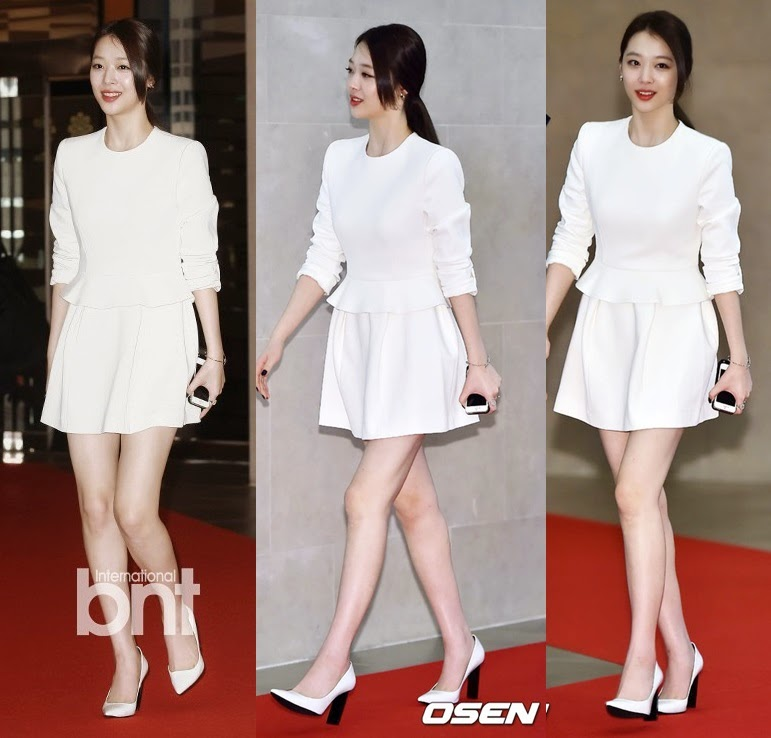 Sulli appears at 'Fashion King' presscon and VIP premiere for the 1st time since hiatus