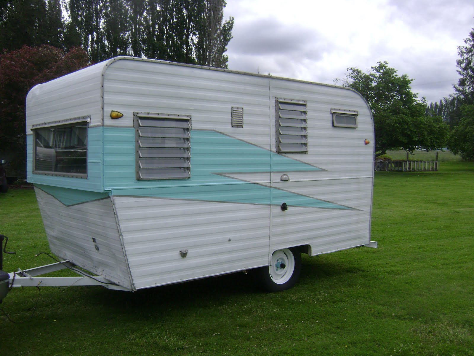 FOR SALE VINTAGE DALTON CANNED HAM TRAVEL TRAILER