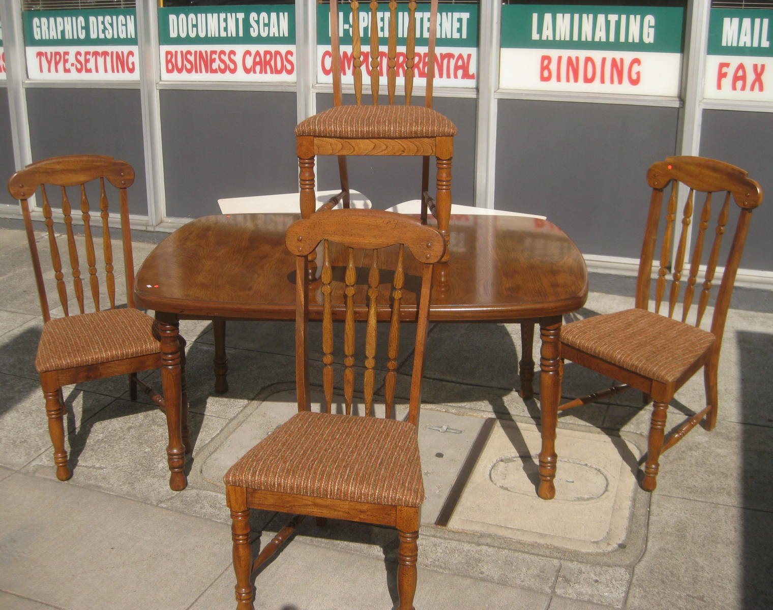 UHURU FURNITURE amp COLLECTIBLES SOLD Table Leaf  : Table4Chairs from uhurufurniture.blogspot.com size 1520 x 1200 jpeg 645kB