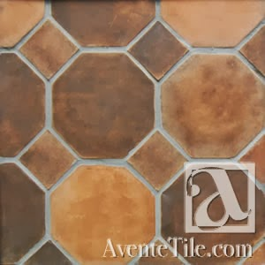 Arabesque Octagon and Dot Spanish Paver Handmade Cement Tile