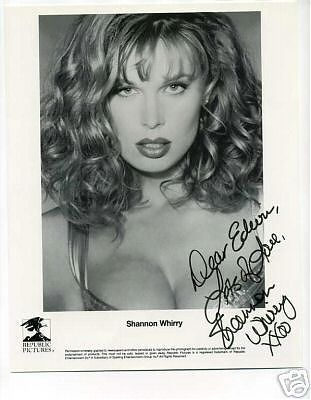 Shannon Whirry signed photo