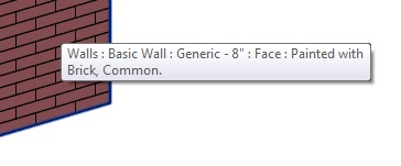 How To Paint One Face On Revit