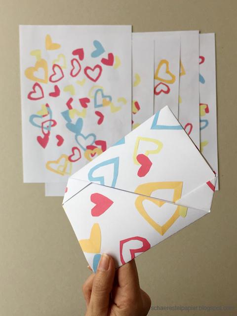 Briefe Falten Herz : Schaeresteipapier einen brief am valentinstag bekommen