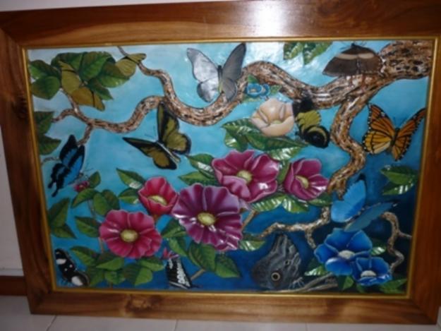 Hojas flores en madera marco almacen de fotos e imágenes - Imagenes De Flores De Madera