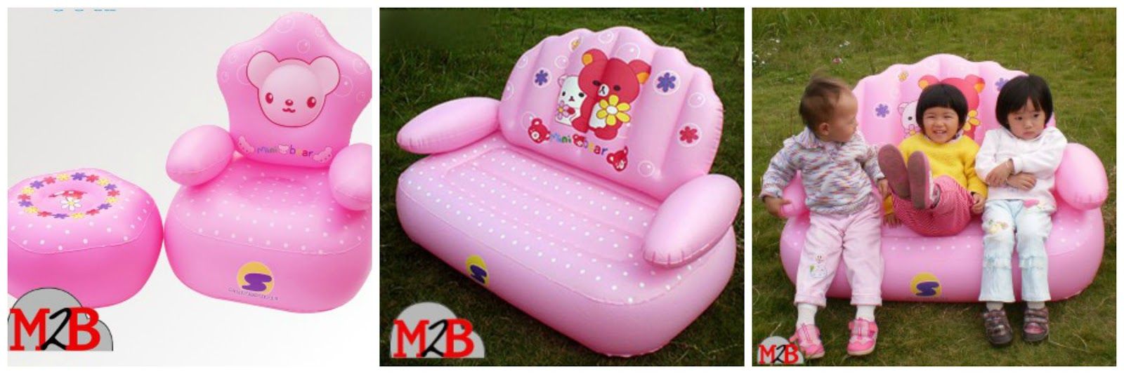 Inflatable furniture for kids - Luxury Round White Inflatable Sofa