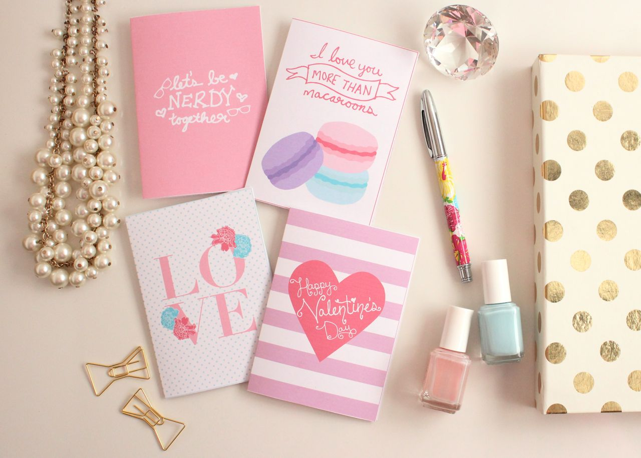 Printable Valentine's Day Cards by Jessica Marie Design