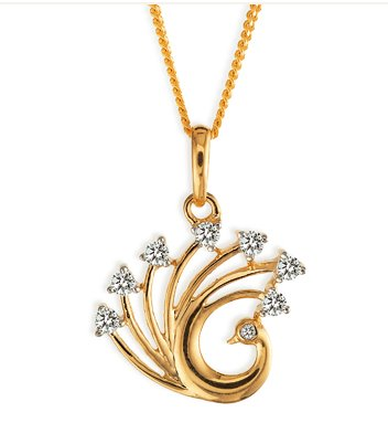 Gold and diamond jewellery designs tanishq simple diamond peacock tanishq simple diamond peacock pendant mozeypictures Image collections