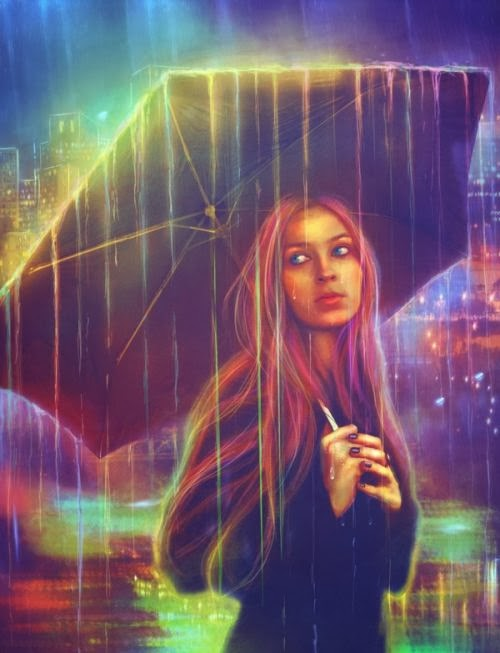 Lilia Osipova deviantart manipulação digital photoshop ilustrações fantasia surreal psicodelia Chuva arco-íris