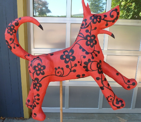 House insideout making a 3d papier mache animal sculpture for Making paper mache animals