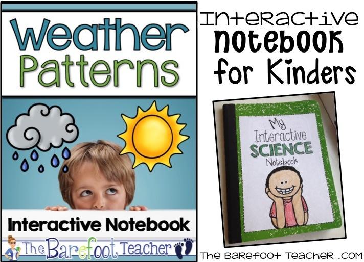 Weather Activities for Kids Interactive Notebooks   The Barefoot Teacher