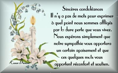 carte de condoleances oncle