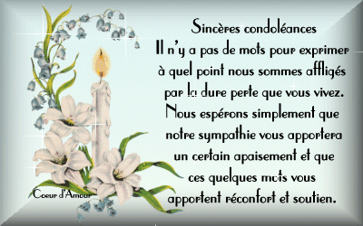 modele carte condoleances ami