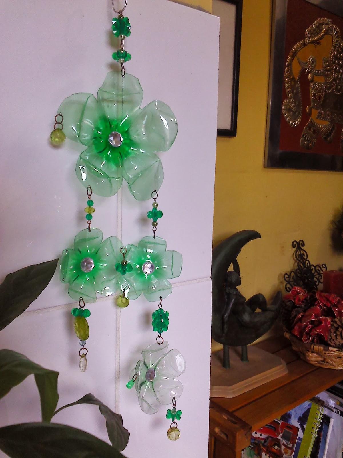 Como hacer un movil para el jard n con materiales reciclados - Material para jardin ...