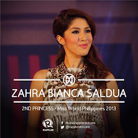 Second Princess (2nd Runner Up): #5 Zahra Saldua