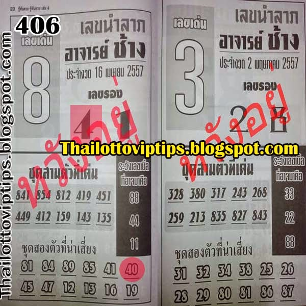 Thai Lottery Hot Exclusive Tip Paper 02-05-2014