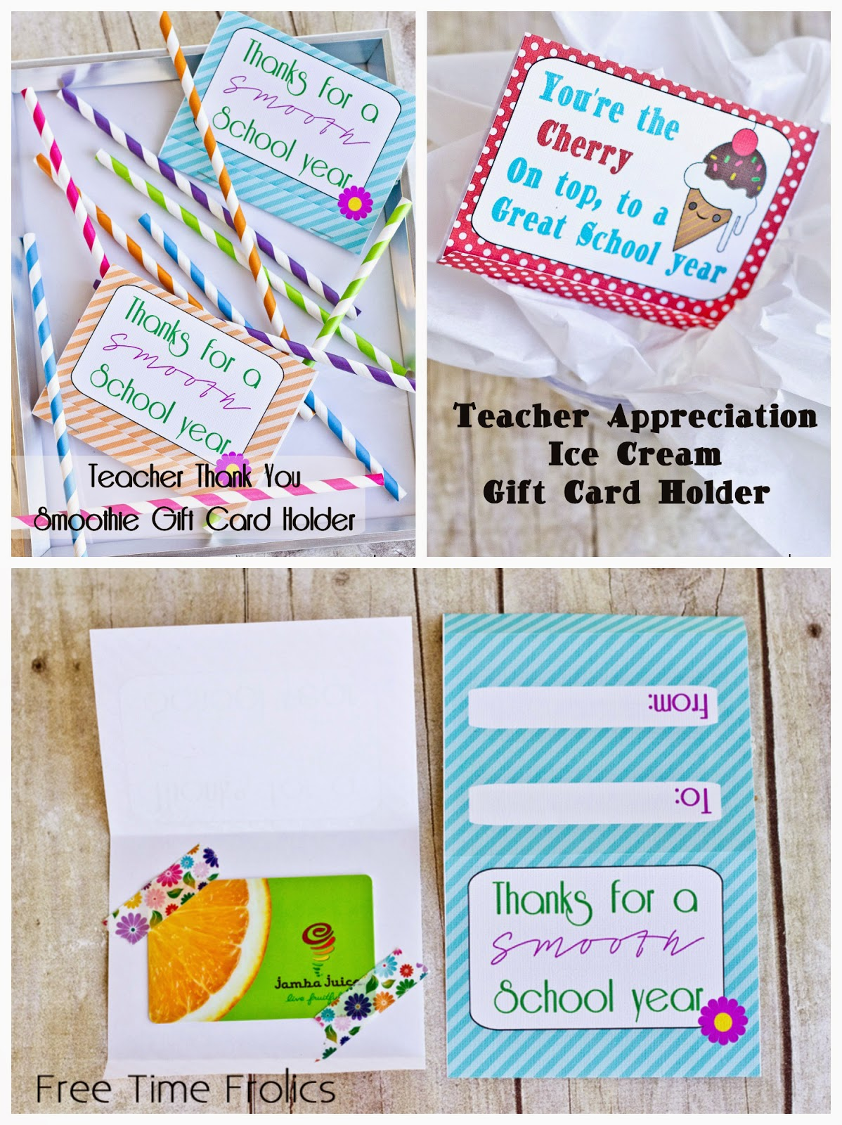 teacher appreciation gift card printables www.freetimefrolics.com #teacherapprecaiation #freeprintable