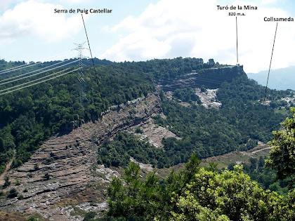 Panoràmica de la Serra de Puig Castellar des de Can Barretina