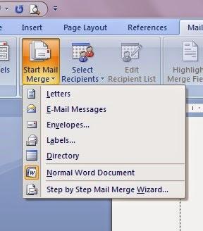 cara membuat surat masal di microsoft word